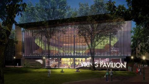 Conceptual image of PSU Viking Pavilion