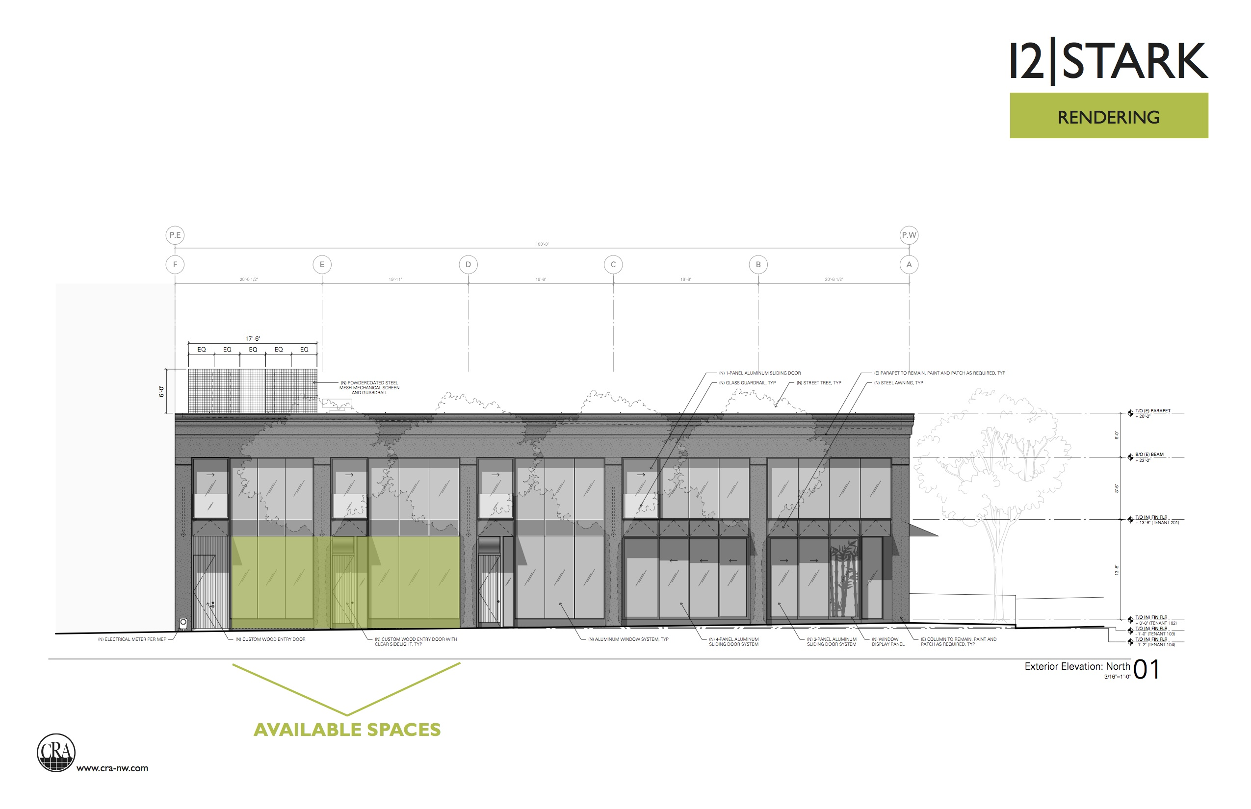 Proposed elevation along SW Stark