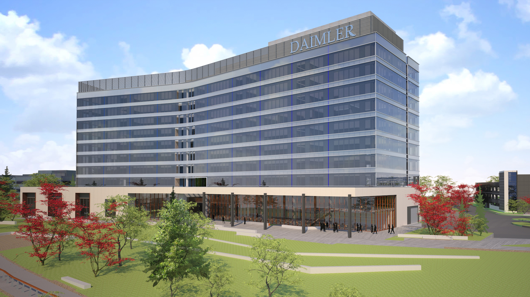 Daimler trucks north america hq under construction next for Mercedes benz north america headquarters