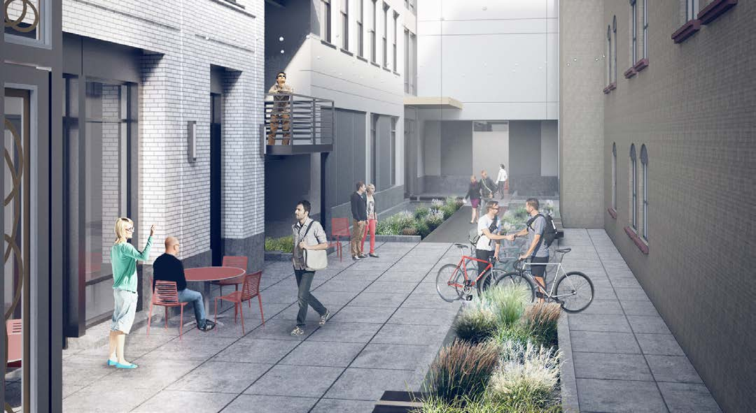 Pedestrian alley from NW 1st