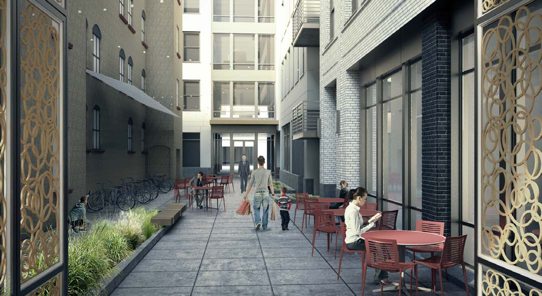 Pedestrian alley from NW Couch