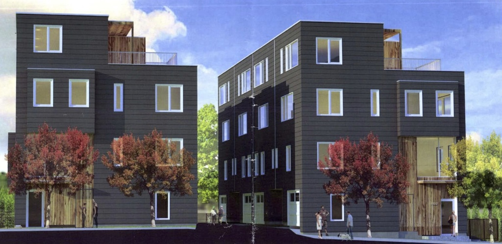 The O|8 Townhomes have been submitted for building permit