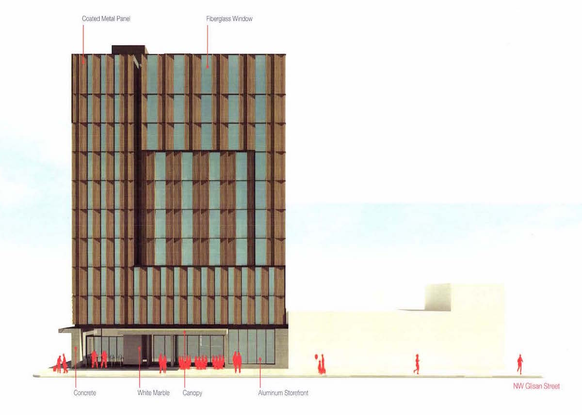 the canopy hotel by hilton due to be reviewed by the design commission on november - Marble Canopy 2015