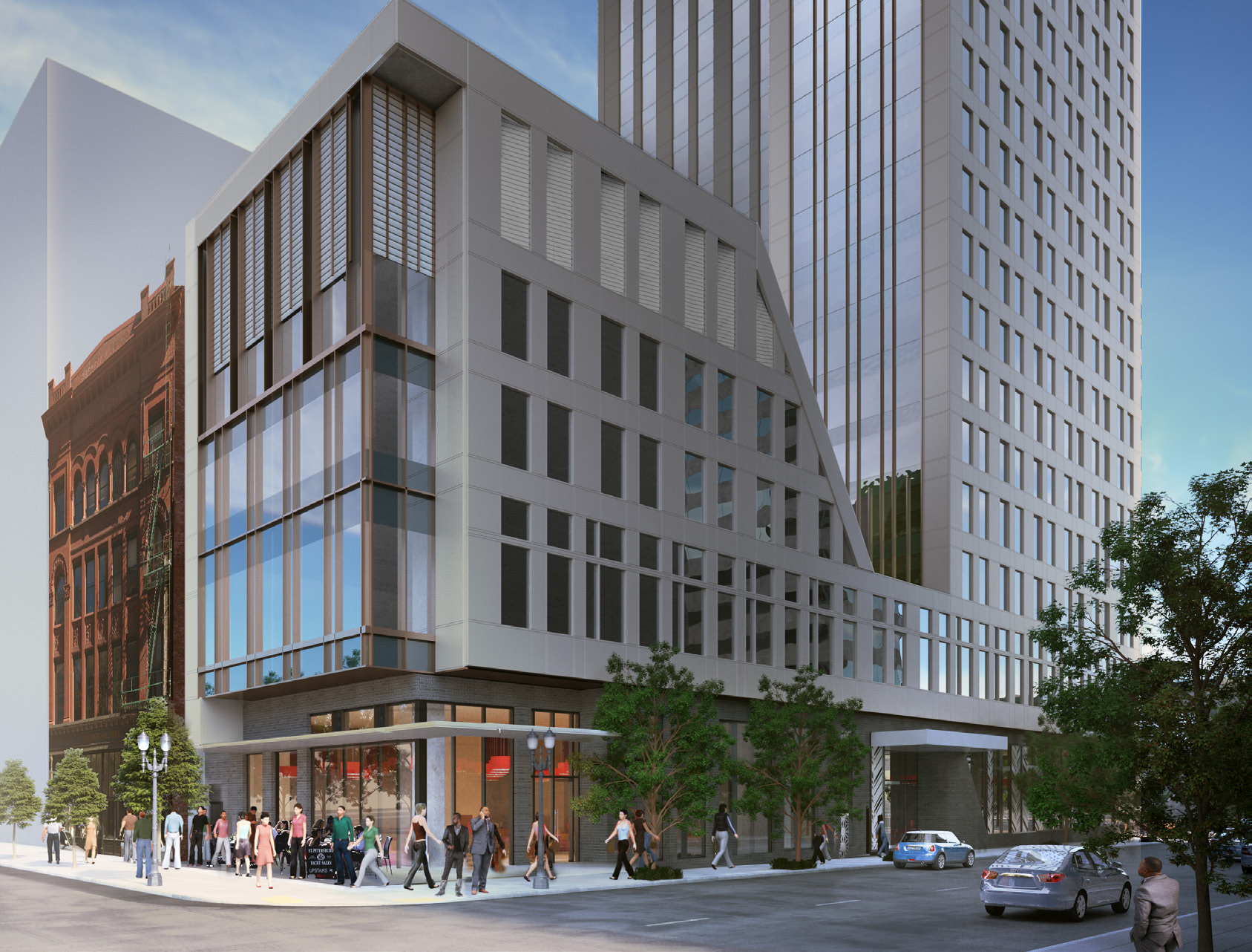 Hotel tower at 3rd salmon has first design review for Hotel building design