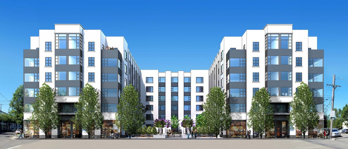 design commission reviews jantzen apartments images next portland