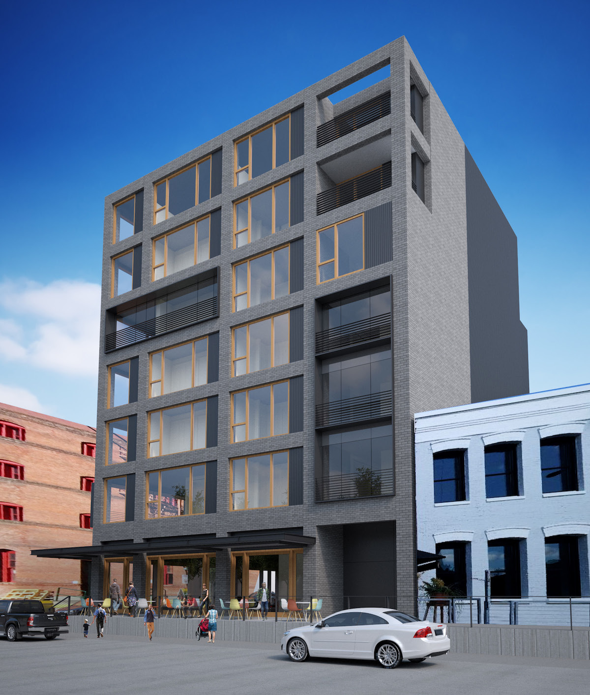 Apartment Building Front nw 13th & johnson apartments return in front of design commission