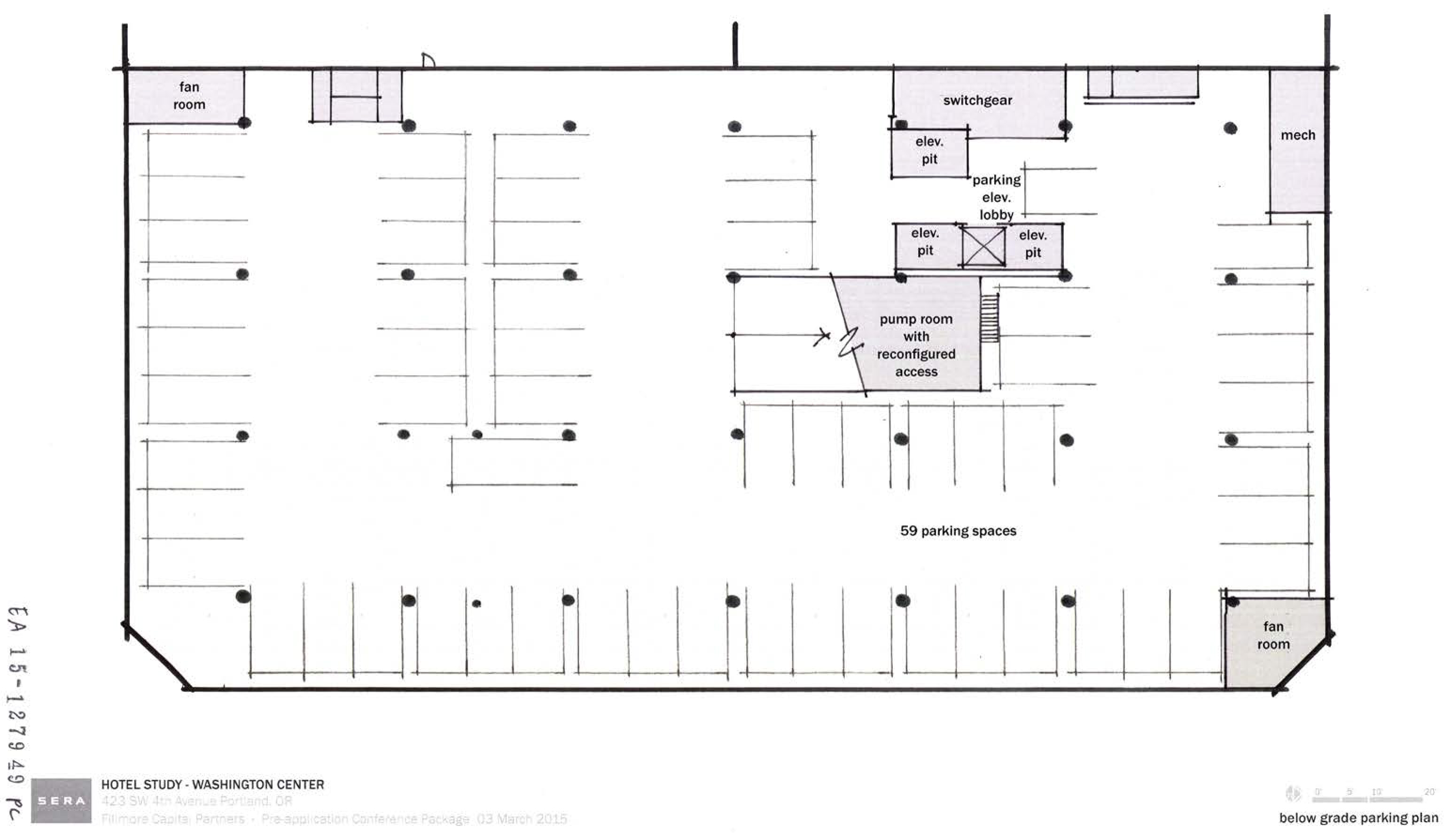 The gallery for underground parking lot plan for House plans with underground garage