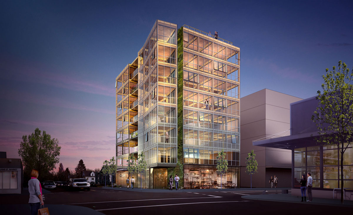 Carbon12 An 8 Story Wood Building Proposed For N