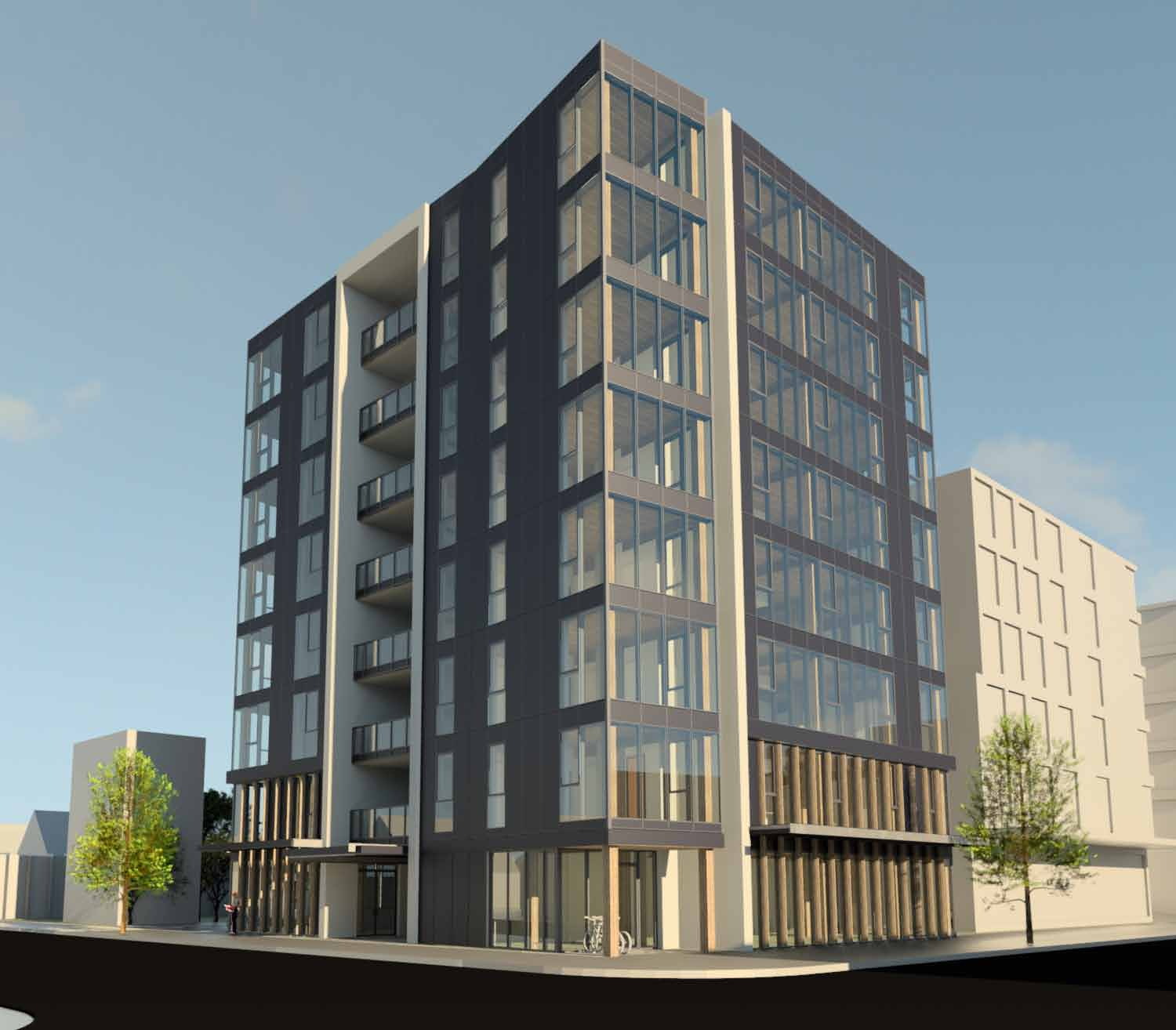 Garage With Apartments Design Approved For First Tall Cross Laminated Timber